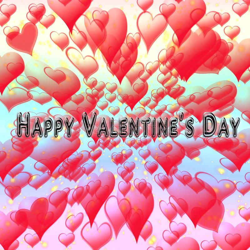 The Happy Valentine`s Day. As background stock illustration