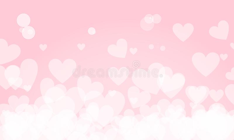 Happy Valentine`s Day Background with Heart Shape Symbols of Love, Greeting card Design. Vector Illustration vector illustration