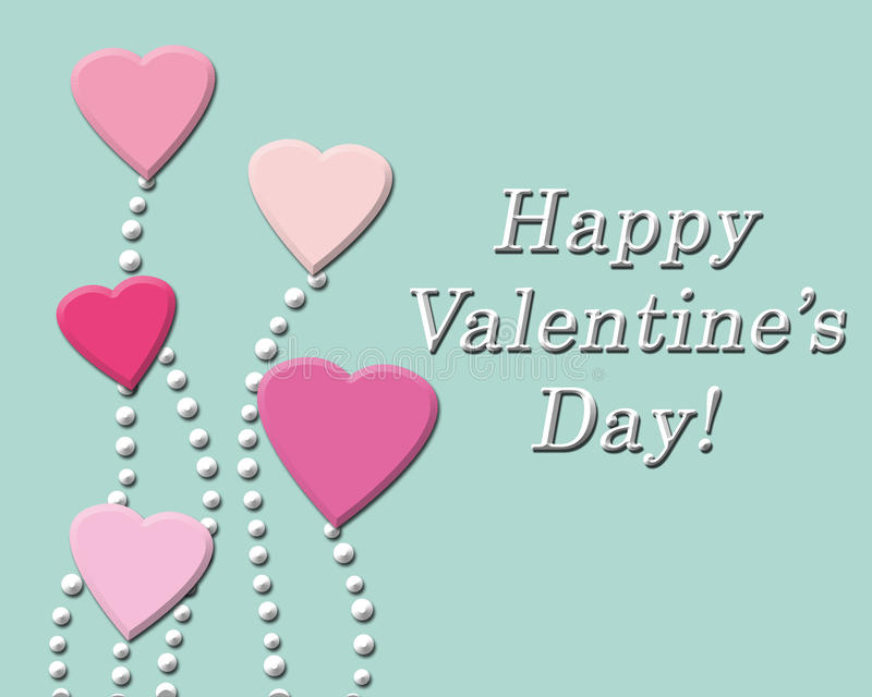 Happy Valentine's day background with pink hearts. Romantic illustration vector illustration