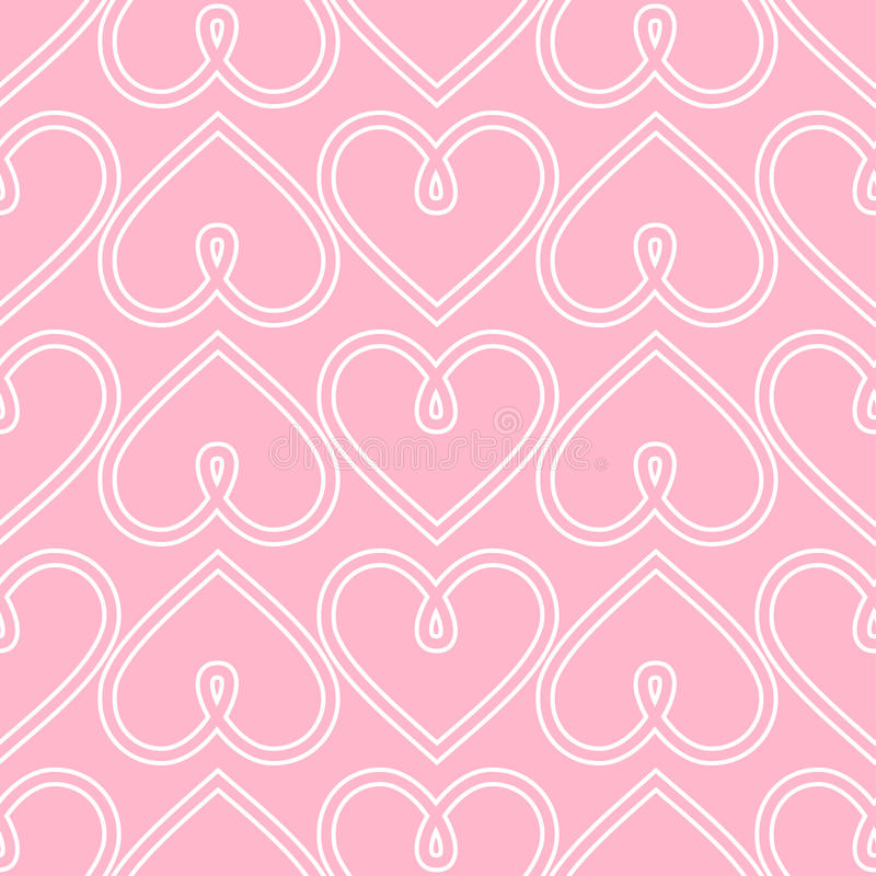 Happy Valentine\'s Day Background. Pink Seamless Vector Heart ...