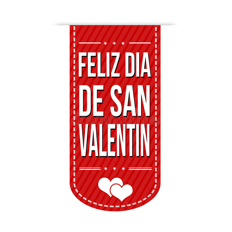 Happy valentine's day banner design stock illustration