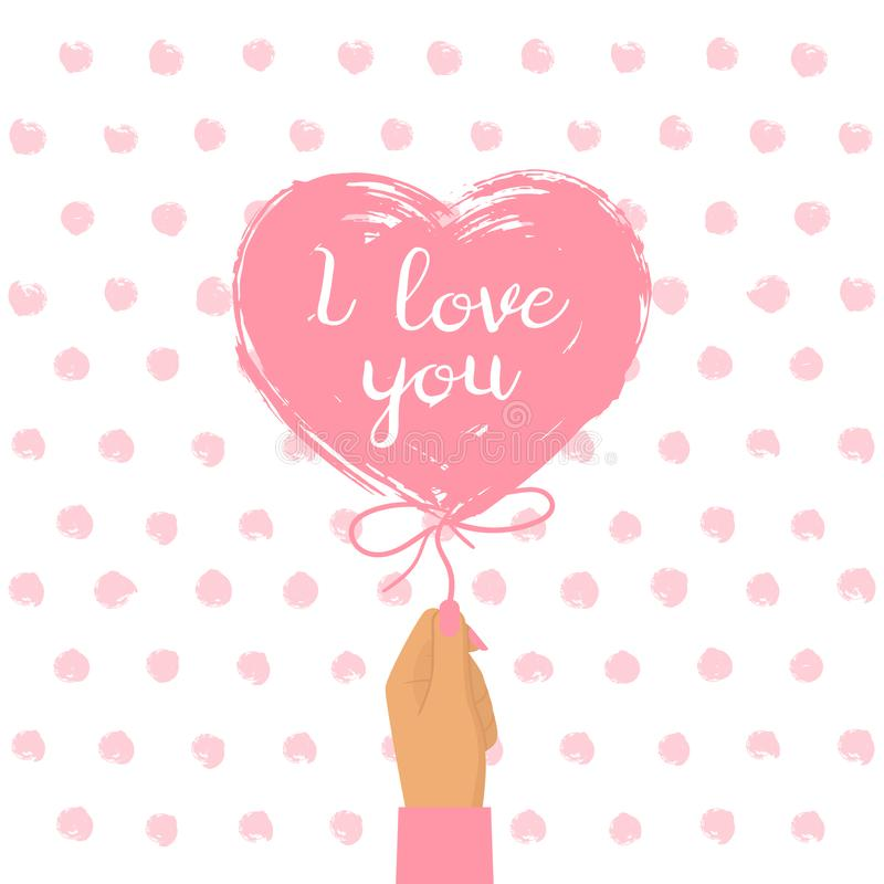 Happy Valentine`s Day card stock illustration
