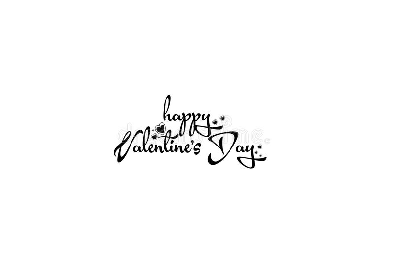 Happy Valentine`s day card. Happy Valentine`s Day lettering.  vector illustration