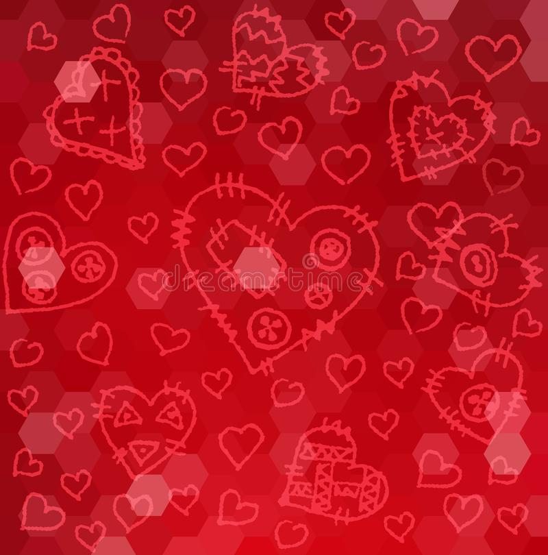 Happy Valentine`s day card hearts vector background. Eps10 royalty free illustration
