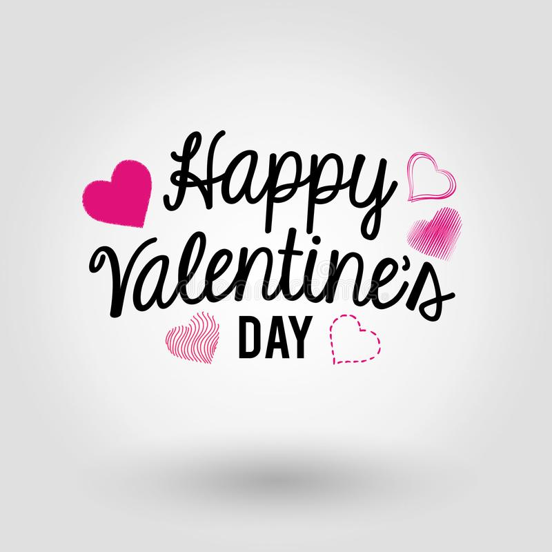 Happy Valentine`s Day - Card stock image