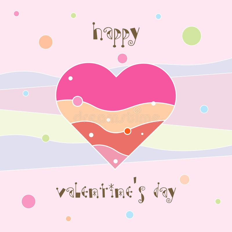 Happy Valentine s day card. Valentines heart. Decorative heart card. 10 eps royalty free illustration