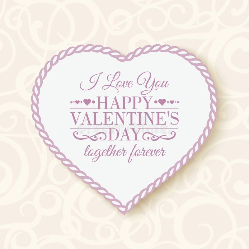Happy Valentine's Day - card. Vector illustration stock illustration