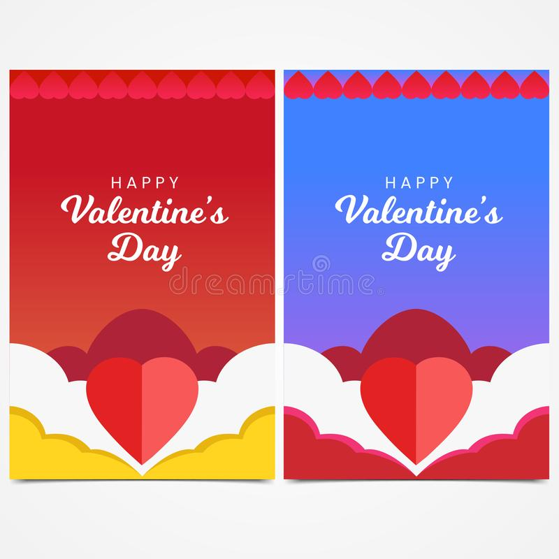 Happy Valentine`s Day Concept banner template background vector illustration