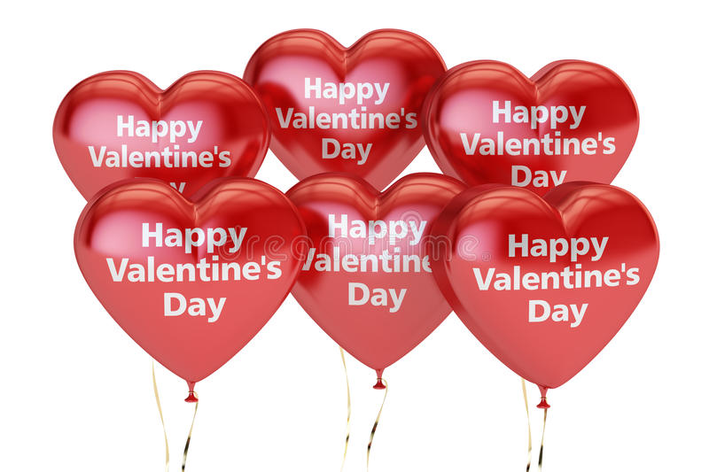 Download Happy Valentine`s Day Concept, Inscription On The Red Heart Stock Illustration - Image: 83715565