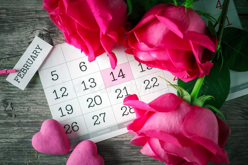Happy Valentine`s day. Congratulatory background by St. Valentine`s Day.  royalty free stock images