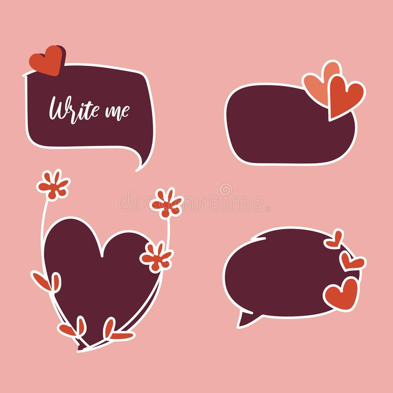 Happy Valentine`s Day elements for your design. Vector.  stock illustration