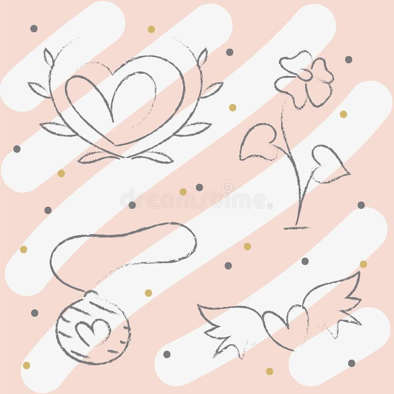 Happy Valentine s Day elements for your design. Vector.  vector illustration