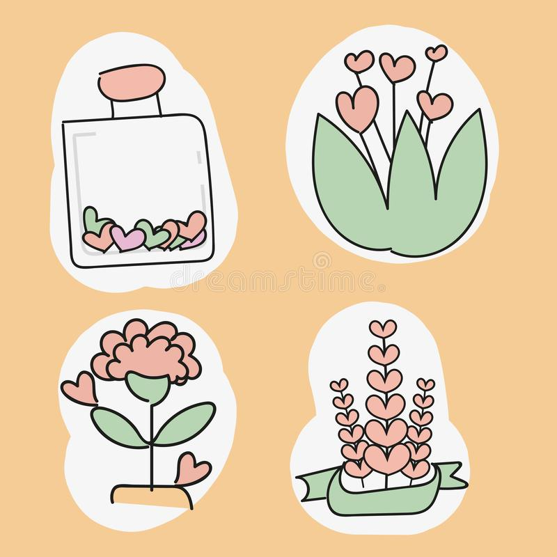 Happy Valentine s Day elements for your design. Vector.  royalty free illustration