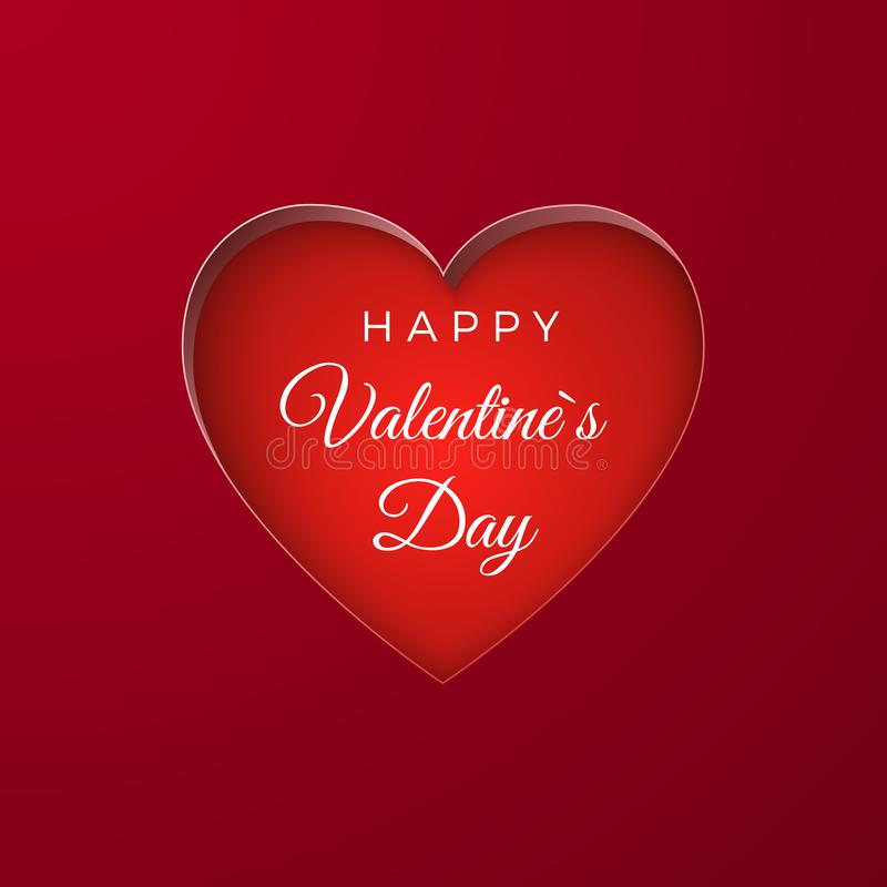 Happy Valentine`s Day greeting card background. Heart shape. Vector illustration.  royalty free illustration