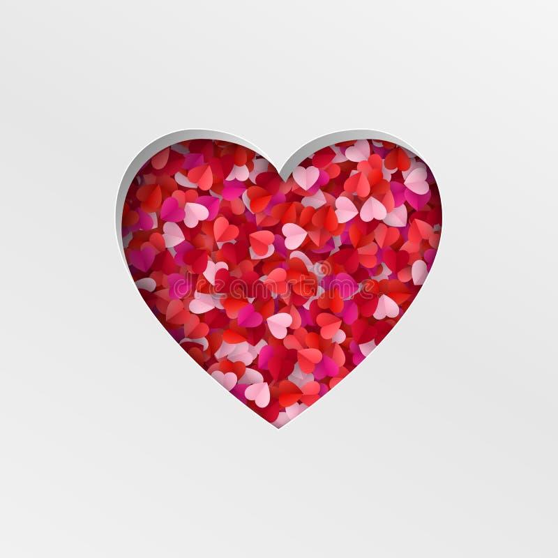 Happy Valentine`s Day greeting card background. Vector illustration.  stock illustration