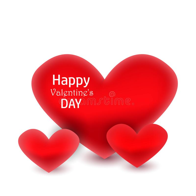 Happy Valentine`s Day greeting card vector illustration