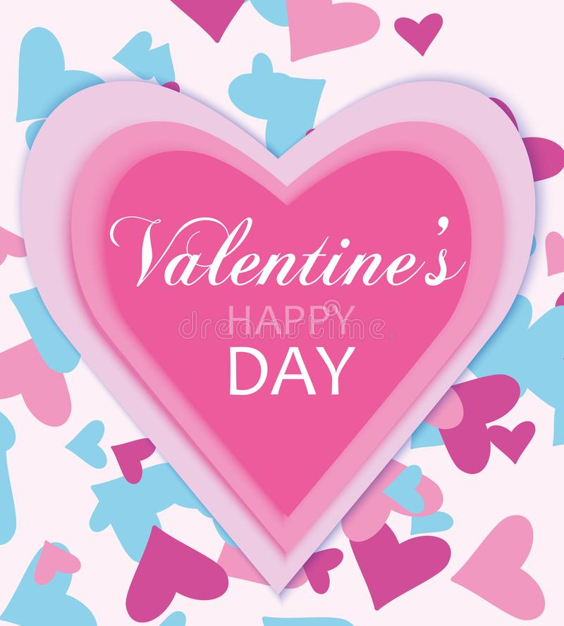 Happy valentine`s day. Vector illustration stock illustration