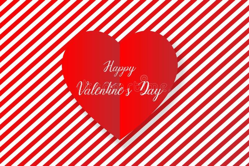 Happy valentine`s day heart background, vector stock illustration