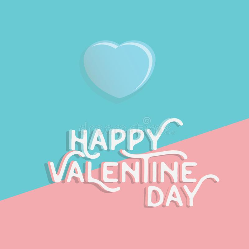 Happy valentine`s day heart , greeting happy valentine day holid. Ay , valentine day with color Pastels love vector illustration