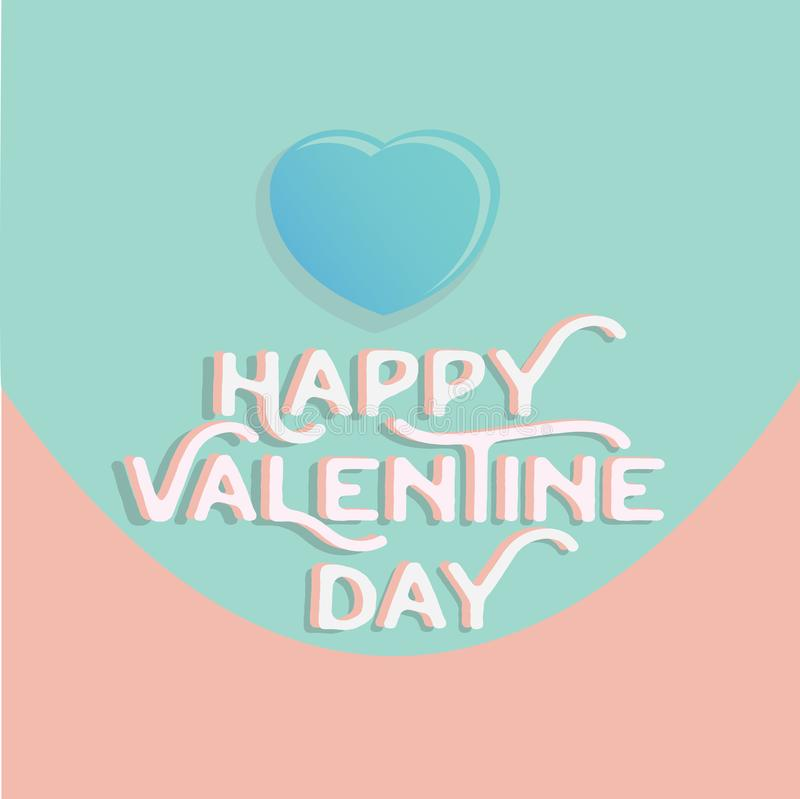 Happy valentine`s day heart , greeting happy valentine day holid royalty free illustration