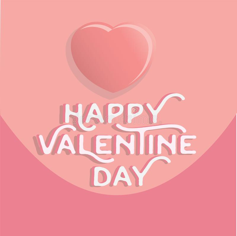 Happy valentine`s day heart , greeting happy valentine day holid stock illustration