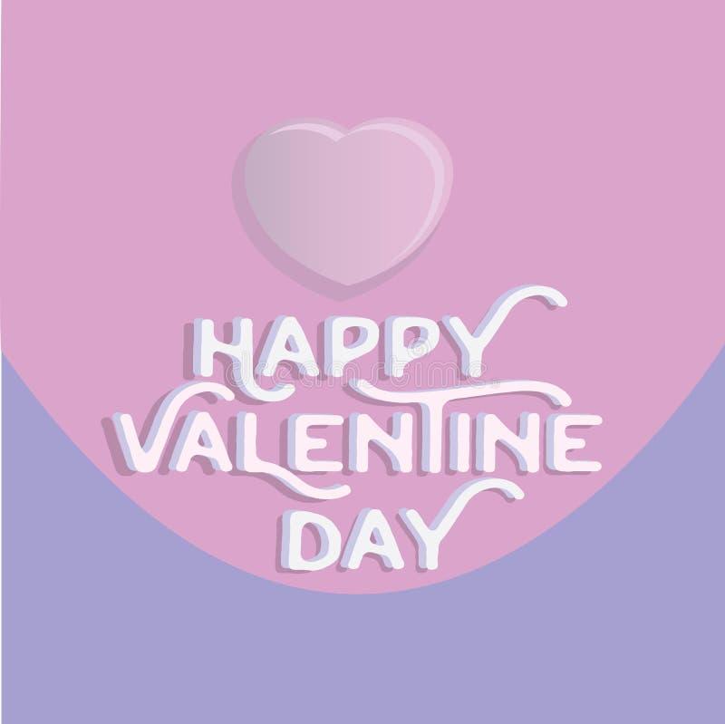 Happy valentine`s day heart , greeting happy valentine day holid. Ay , valentine day with color Pastels love royalty free illustration
