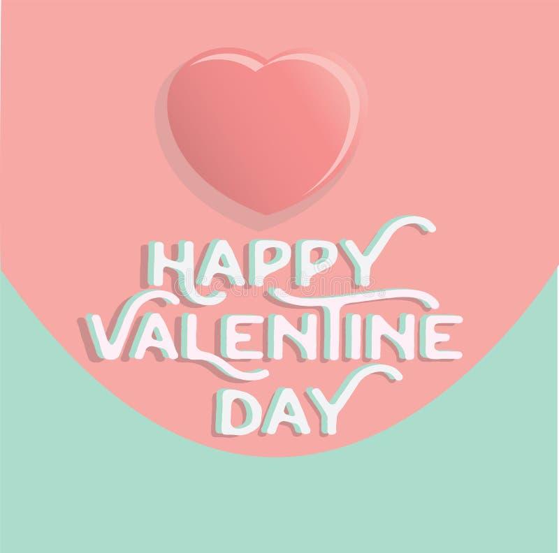 Happy valentine`s day heart , greeting happy valentine day holid. Ay , valentine day with color Pastels love vector illustration