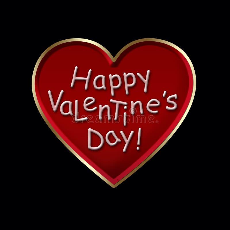Happy Valentine`s Day ! royalty free illustration