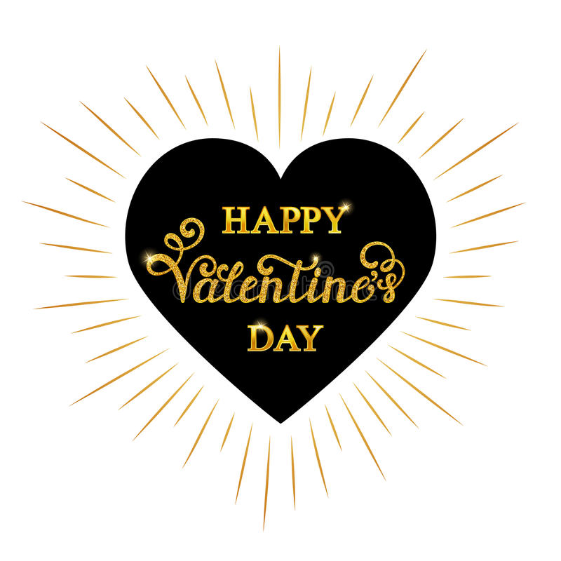 Happy Valentine s day inscription vector illustration