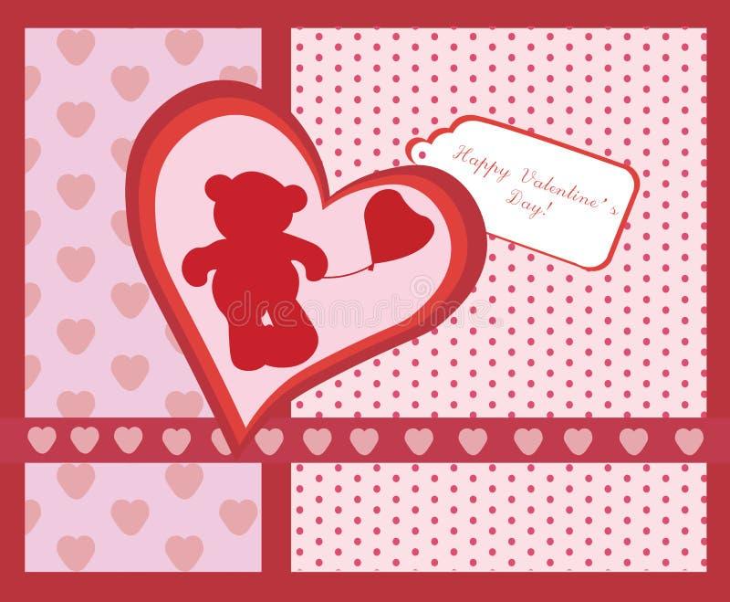 Happy Valentine's Day invitation card royalty free illustration