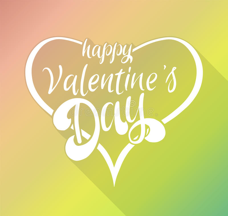 Happy Valentine`s day lettering in hearts. Vector illustration for valentine`s card stock illustration