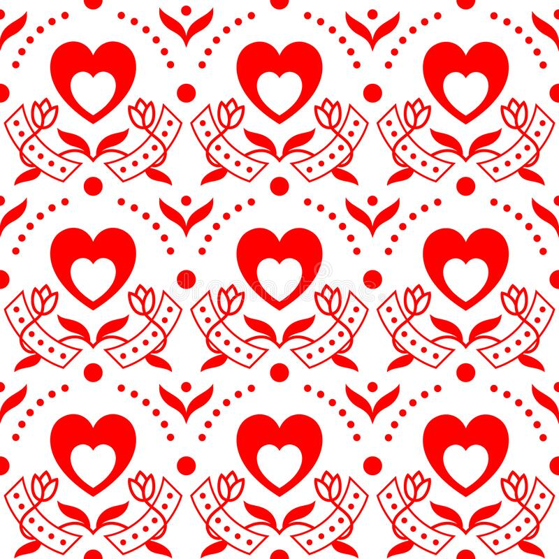 Happy Valentine`s Day!  Love and romantic background in white and red colors. stock photography