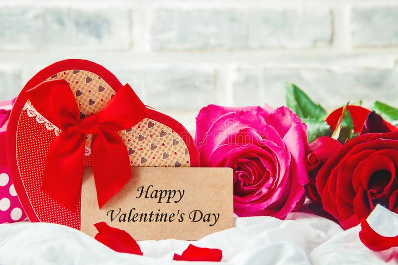 Happy Valentine`s Day. Love. Happy Valentine`s Day. Selective focus royalty free stock images