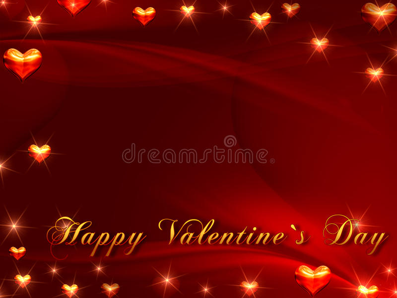 Download Happy Valentine's Day In Red Stock Illustration - Image: 22946128