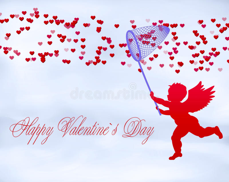 Happy Valentine`s Day. Romantic illustration Valentine's Day Background vector illustration