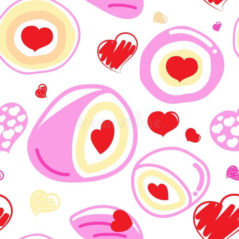 Happy valentine`s day. Seamless pattern bakery love. Happy valentine`s day vector illustration