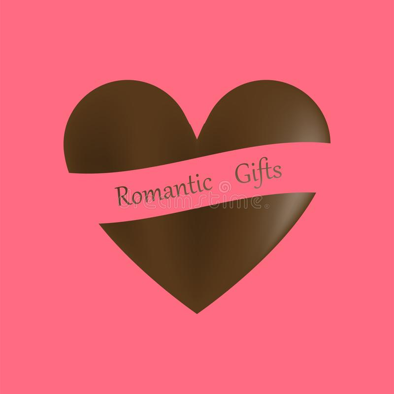 Happy Valentine`s Day, Stylish chocolates heart shaped, isolate on background. Vector Illustration vector illustration