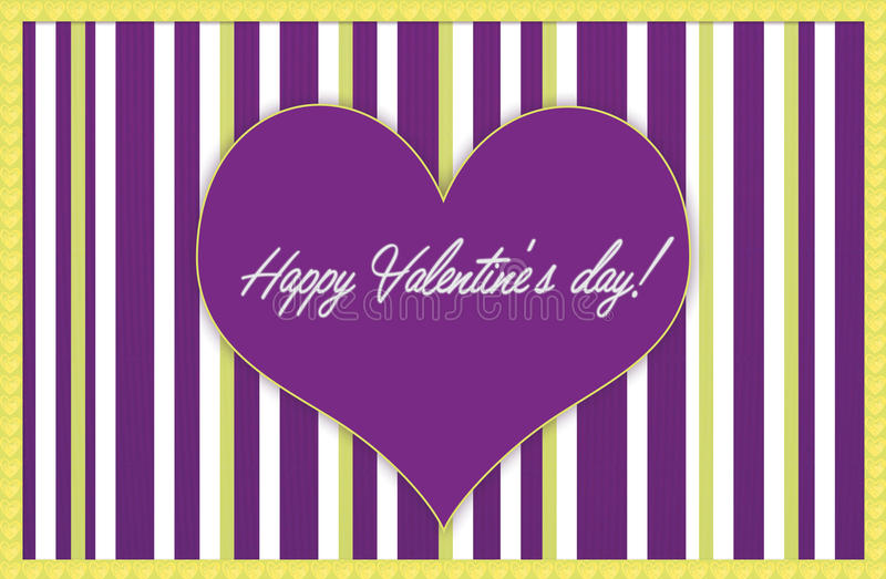 Happy Valentine's day template stock images