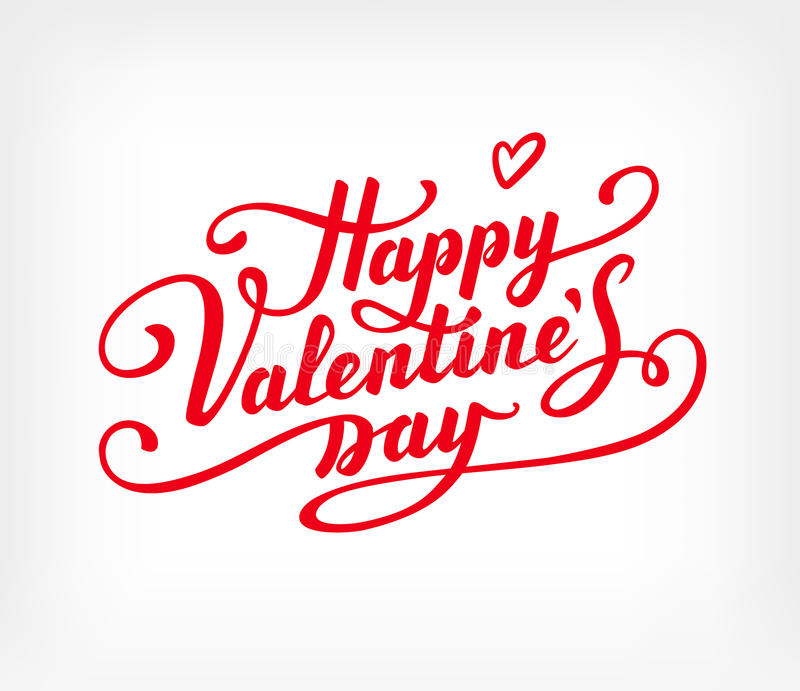 Happy Valentine s Day text vector illustration