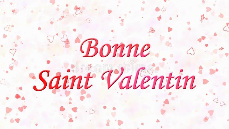 Perfekt Download Happy Valentineu0027s Day Text In French Bonne Saint Valentin On Light  Background Stock Illustration