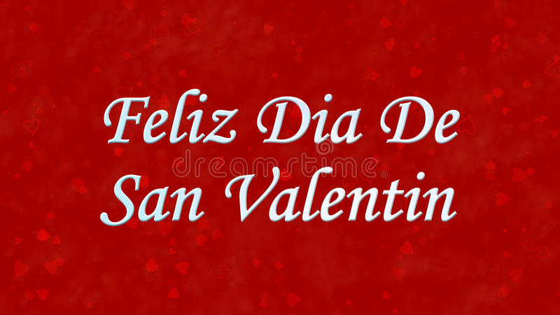 Download Happy Valentineu0027s Day Text In Spanish Feliz Dia De San Valentin On  Red Background Stock