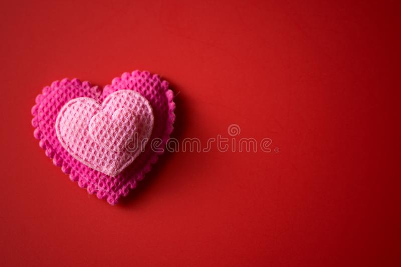 Happy valentine`s day. Theme background with pink color heart shape royalty free stock images