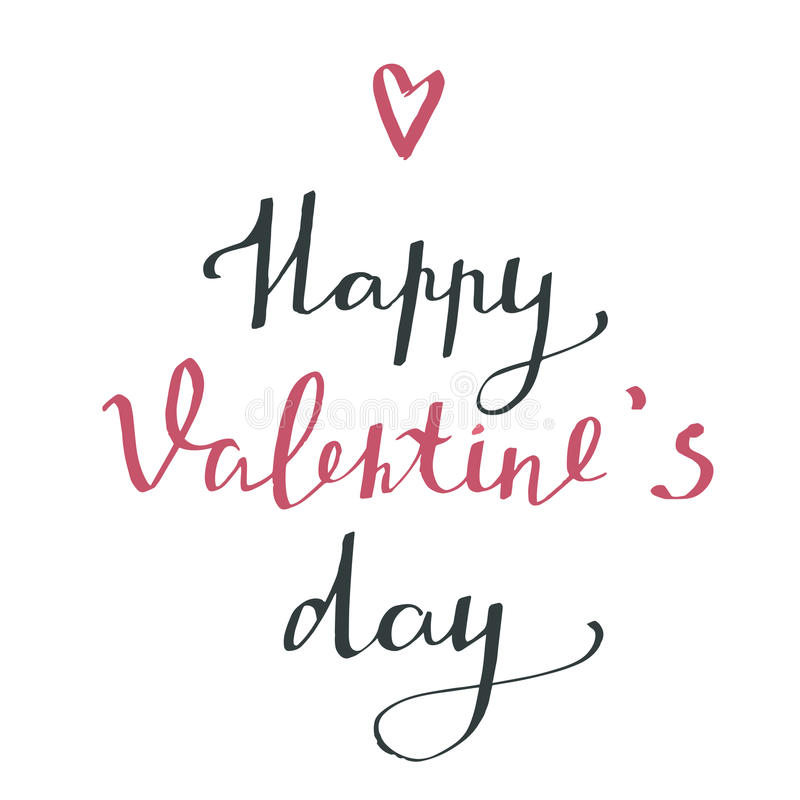 Happy valentine`s day - typography poster. stock photos