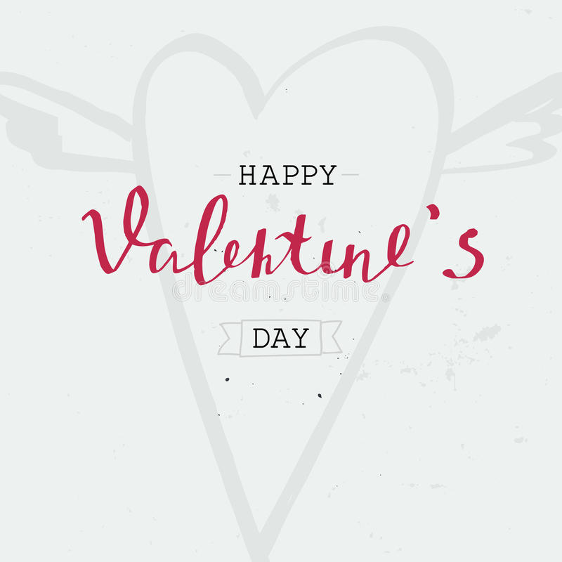 Happy valentine`s day - typography poster. stock image
