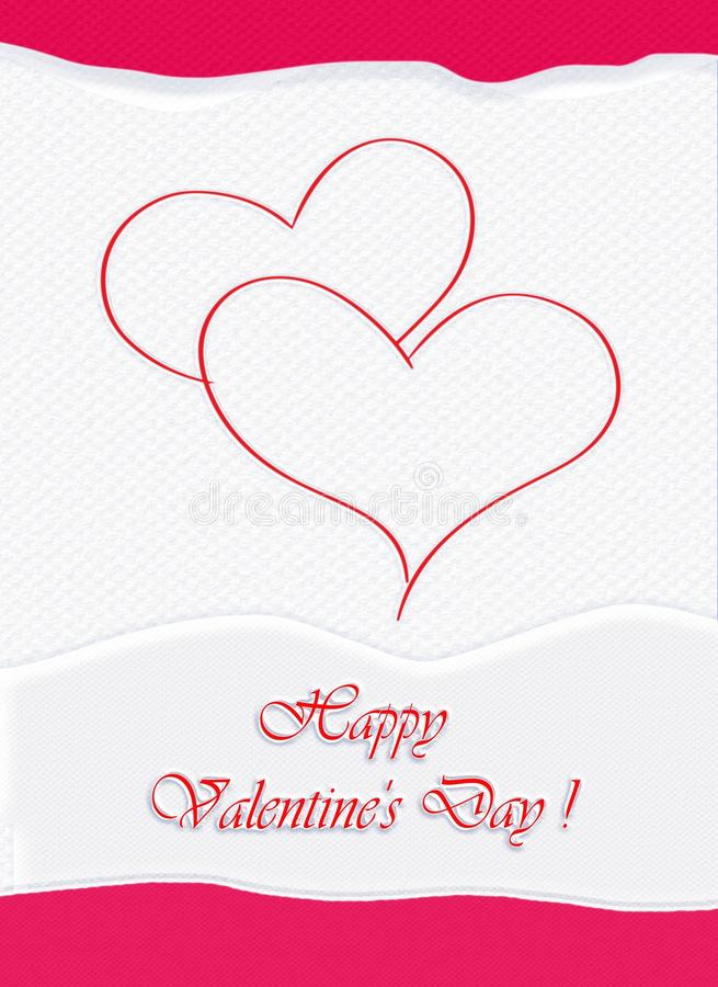 Valentine Day card. Happy Valentine Day, Valentine card, Holidays. Abstract Background. Festive Decorative composition with the hearts and colorful various stock illustration