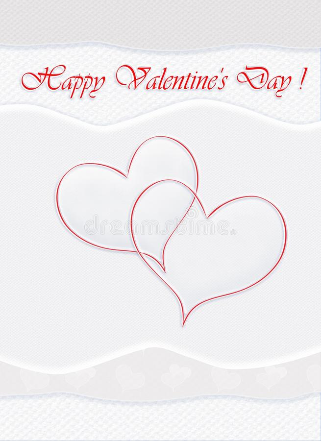 Happy Valentine Day card. Happy Valentine Day, Valentine card, Holidays. Abstract Background. Festive Decorative composition with the hearts and various vector illustration