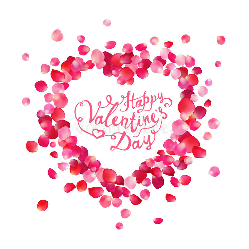 Happy Valentine`s Day vector card vector illustration