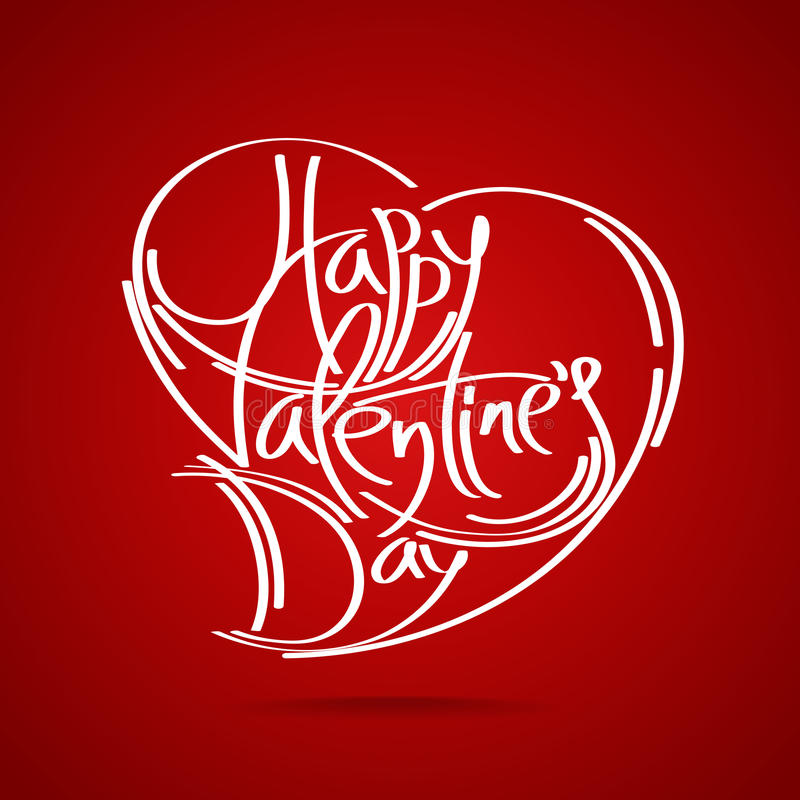 Happy Valentine's Day vector card royalty free illustration