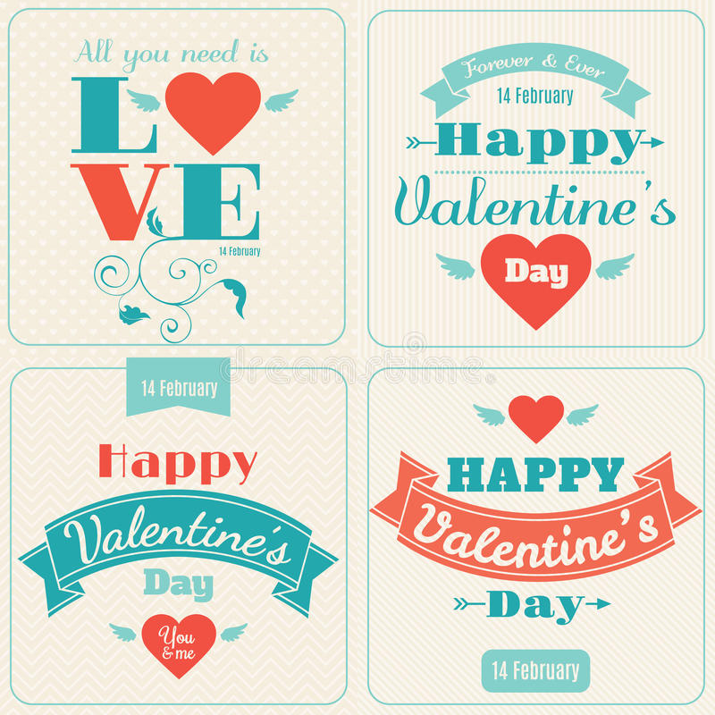 Happy Valentine's Day vector card vector illustration