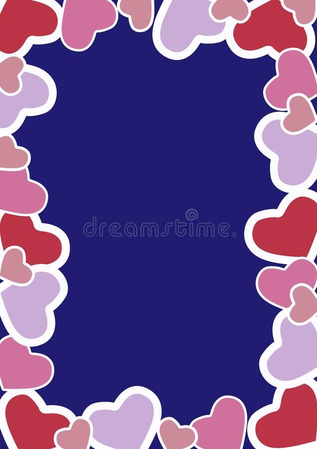 Happy Valentine's day wishes greeting card, abstract background with colourful hearts, graphic design illustration wallpaper. Happy Valentine's day stock image